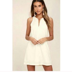 Lulus Near or Bar Cream Shift Dress